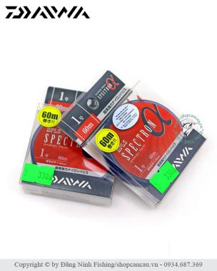 Dây FluoroCarbon Daiwa Spectron α ( alpha) - Made in Japan